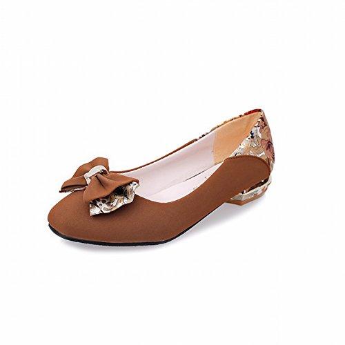 Zapatos -Falta con Tacones Zapatos con Aros Cuadrados Zapatos Edad Media Zapatos de Madre de Tacón Bajo Temperamento Zapatos...