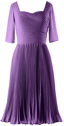 MACloth Women Half Sleeves Mother of Bride Dress Chiffon Cocktail Formal Gown Regency