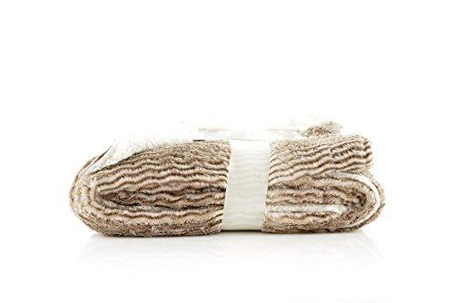(HappyCare Textiles Luxury Faux Fur to Sherpa Throw Sober Zebra)