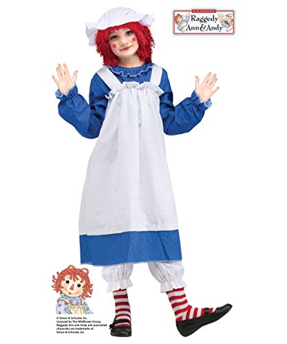 Raggedy Ann Child Costume - Medium