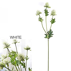 FYYDNZA 60Cm 3 Holders Celery Simulation Flowers Artificial Flowers Tooth Thistle Flower Wedding Decoration 18