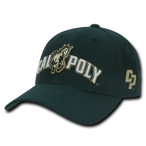 Cal Acrylic - W Republic Apparel Structured Acrylic Cap, Cal Poly, Hunter, One Size