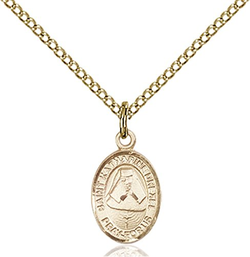 14K Gold Filled Saint Katharine Drexel Petite Charm Medal, 1/2 - Drexel Pendant Medal Katharine