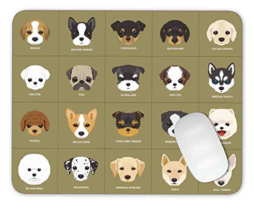 20 Cartoon Puppy Dogs - Mouse Pad Mouse pad Gaming Mouse pad Mousepad Nonslip Rubber Backing