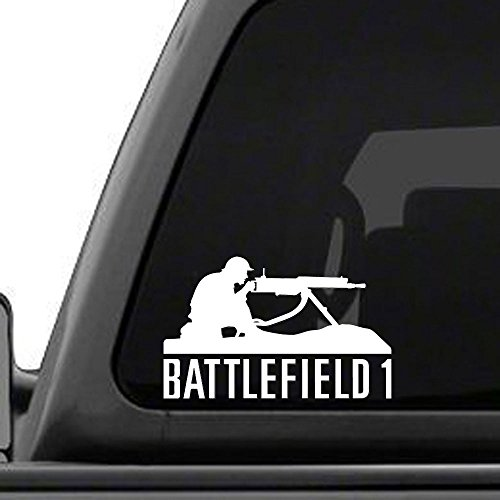 Price comparison product image Battlefield 1 Machine Gunner - Inspired vinyl decal. BF1,  PS4,  Xbox,  Car,  Truck