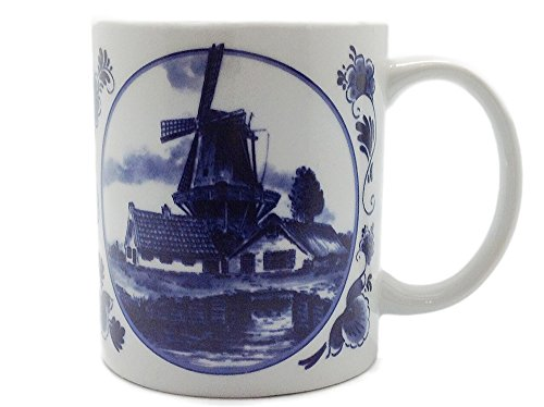 Dutch Gift Delft Windmill Coffee Cup - Delft Blue Windmill Shopping Results