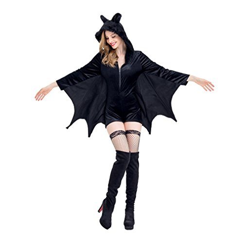 Bat Costumes Women Cozy Sexy Halloween Cosplay Costume (Most Popular Womens Halloween Costumes)