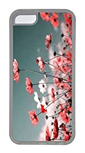 iPhone 5C Case, Customized Protective Soft TPU Clear Case for iphone 5C - Red Gesang Cover