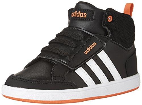 adidas Boys' Hoops CMF Mid Inf Sneaker, Black/White/Solar Red, 6 Medium US Toddler - Medium Cap Hoop