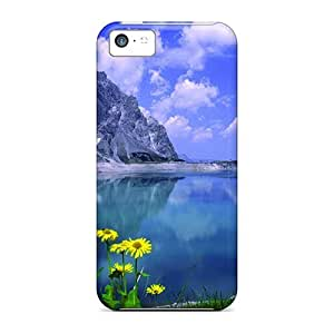 Hard Plastic Iphone 5c Case Back Cover,hot Lake Calmness Case At Perfect Diy