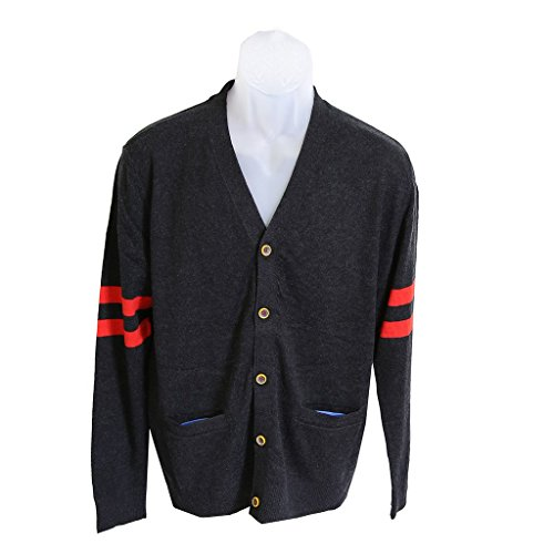 robert-graham-mens-size-small-arcite-black-wool-cardigan-sweater
