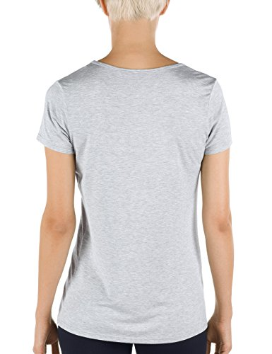 Calida Top Kurzarm Favourites - Top Mujer Grau (stein meliert 096)