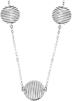 Finecraft Women's Circle Wire Necklace in Sterling Silver