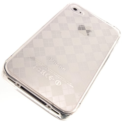 Apple iPhone 4 Cover Case by ShockWize; Endurance Series featuring nearly indestructable TPU (plastic silicone polymer hybrid) for safe protection, and striking solid colors for individuality iphone4s 4gs (ENDRNC) (clear argyle)