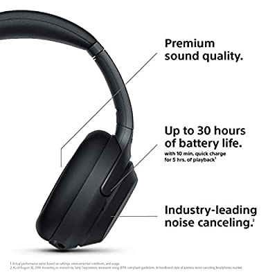 Sony WH1000XM3 Wireless Industry Leading Noise Canceling Overhead Headphones (WH-1000XM3) Headphone