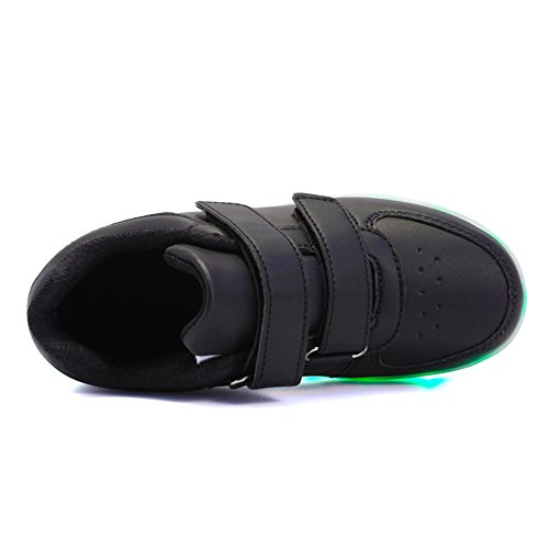 Voovix Kids LED Light up Shoes Lighting Low-Top Sneakers for Boys and Girls(Black,US11/EU29) by Voovix (Image #3)