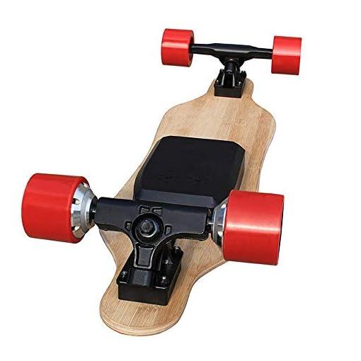 Électrique Longboard, Skate-board électrique avec télécommande, Skate-board électrique avec télécommande sans fil E-Planche à roulettes for adultes et jeunes, double moteur 2x350W skateboard adulte RV