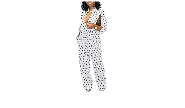 Comaba Womens Wide Legs Plus Size Wrap High-Rise Jumpsuit Trousers
