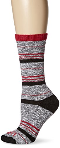 Carhartt Women's Merino Wool Blend Slub Stripe Socks, Black, Shoe Size: 5.5-11.5