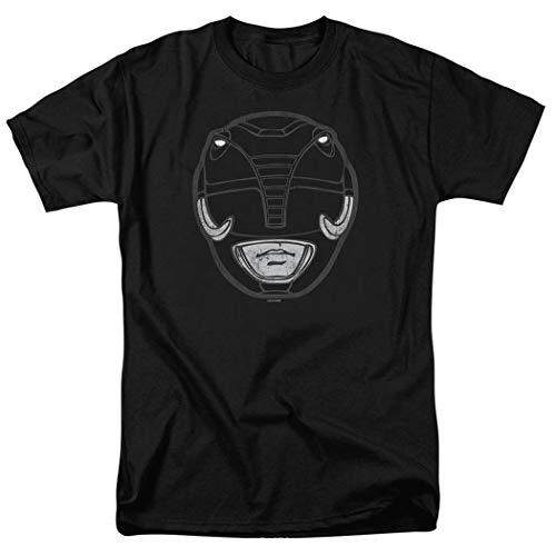 Power Rangers Black Ranger Mask T Shirt (Small)]()