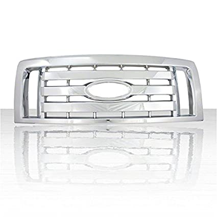 1pc Chrome ABS Grille Overlay for 2009-2012 Ford F-150 XL FX4 STX