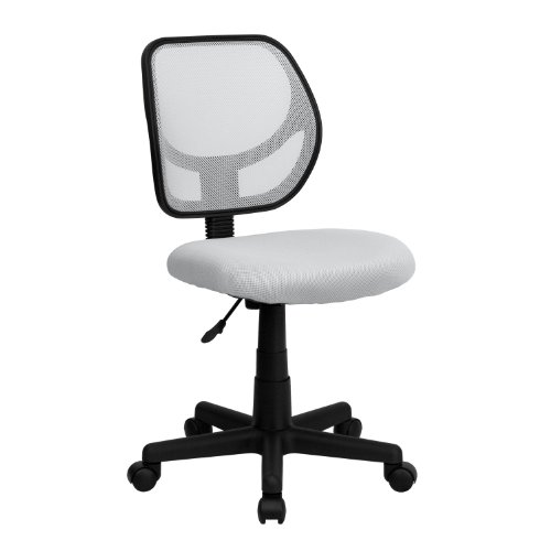 Flash Furniture Low Back White Mesh Swivel Task Office Chair
