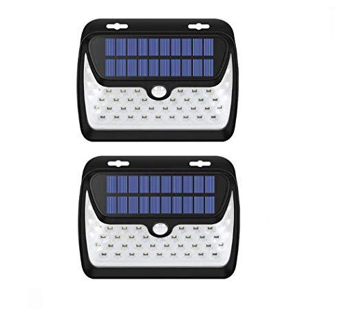 Solar Wall Lights, 42 LED Waterproof Solar Lamp Infrared Sensor Light, Outdoor Wall Lamp for Courtyard Garden Lawn Light (2 Pack)