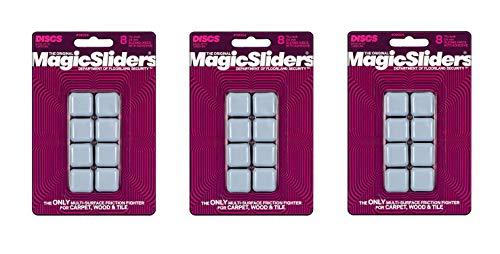Magic Sliders 8024 Series 8PK 15/16'' SQ Slider, 1, White (Тhree Pаck) by Magic Sliders (Image #1)