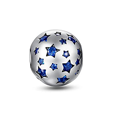 Glamulet Jewelry - Shiny Star Charm -- 925 Sterling Silver