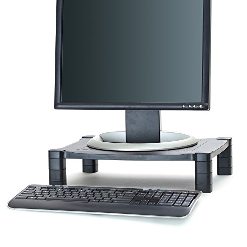 - Mind Reader Adjustable Monitor Stand Riser for Computer, Laptop, Desk, iMac, Black
