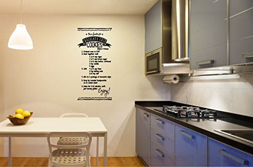 (Chocolate Chip Cookie Recipe Vinyl Wall Decal Sticker)