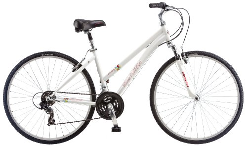 Schwinn Women's Network 1.0 700c Hybrid Bicycle, White