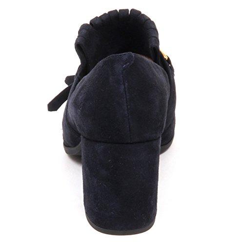 Shoe Scarpe Olimpo Frange Baltico Unisa Woman Donna Suede Blu Decollete E6478 8wqg1