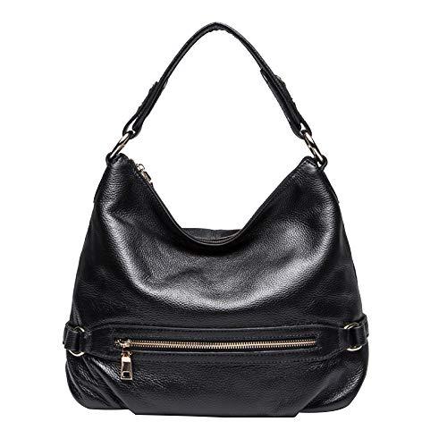 Mode Cuir Seau à Main Sacs Body Bandoulière Main,Femmes En Véritable à Cross Sac Black Bag Grand Fourre à Sacs Sac tout Designer XwZYxx