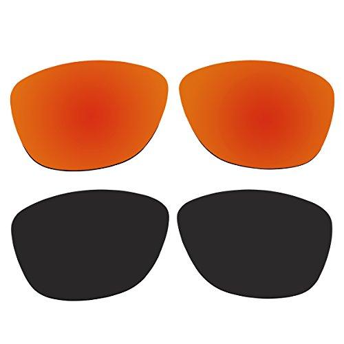 Replacement Polarized Fire Red and Black Lenses for Oakley Jupiter Sunglasses (Not Fit Jupiter Carbon, Jupiter Squared, Jupiter Factory - Squared Carbon Jupiter