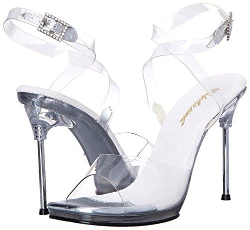 c Correa Trasparente trasparente Zapatos Mujer Chic06 m Con Pleaser 5w1pqU5