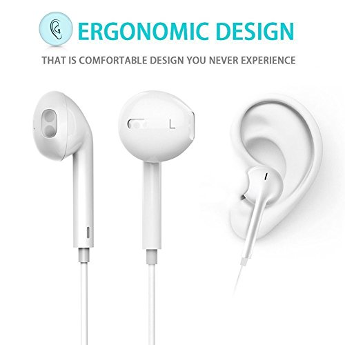 Bluetooth Headphones In Ear Wireless Earbuds 4.1 Magnetic Sweatproof Stereo Bluetooth Earphones for Sports With Mic,Upgraded 7 Hours Play Time, Secure Fit, Noise Cancelling (White)