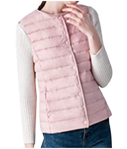 科学者裁判所ウォーターフロントcheelot 女性プラスサイズショートスタイル軽量薄型ノースリーブダックダウンベスト