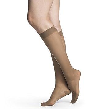Sigvaris 782 EverSheer Open Toe Knee Highs - 20-30 mmHg Short Toasted Almond MS