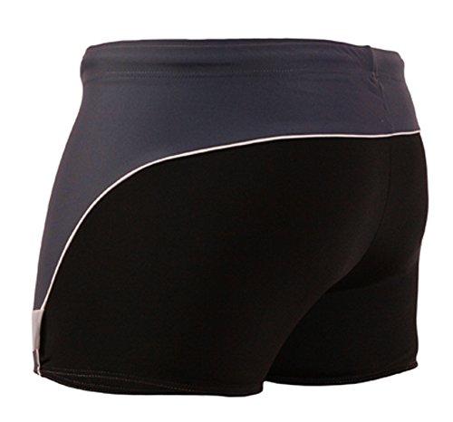 STANSK0017 STANTEKS M grau Herrenbadehose Boxer zweifarbig Badeshorts Herren Schwimmhose Classic Schwimmbekleidung (schwarz-grau, M)