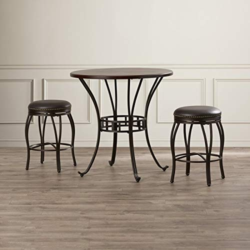(Sunset Trading CR-J3005-36-3PC Victoria Dining Pub Table Set, Small, One Size, Bronze and Cherry)
