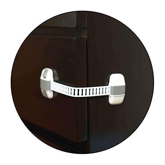 Safe-O-Kid - Pack of 1 - High Quality, Adjustable Medium Multi-Purpose Child Safety Lock- Grey
