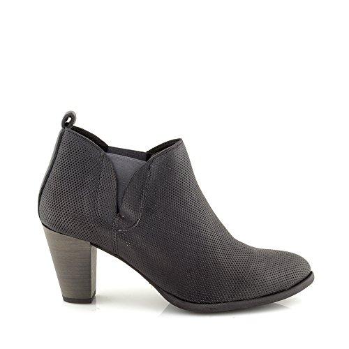 Felmini - Zapatos para Mujer - Enamorarse com Viana 8742 - Botines de tacón - Cuero Genuino - Negro Negro
