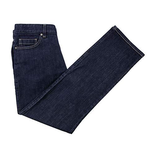 - Ermenegildo Zegna Blue Denim Leather Jacron Distressed Jeans 32W