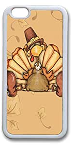 iPhone 6 Cases, Sleeping Turky Personalized Custom Soft TPU White Edge Case Cover for New iPhone 6 4.7 inch