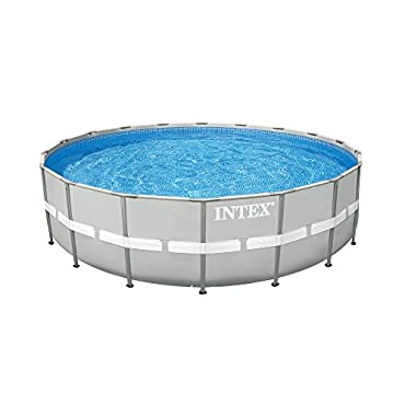 "Intex 24' x 52"" Ultra Frame Steel Frame Above Ground Swimming Pool Set with Pump"