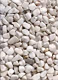 Zandobbio Natural Marble Pebbles, 25 lbs