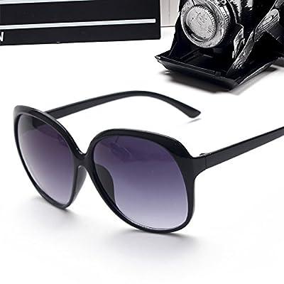 123b057b7f3f5d LXKMTYJ Sauvages modernes portant des lunettes de soleil confortables personnalité  ronde, un visage rond et