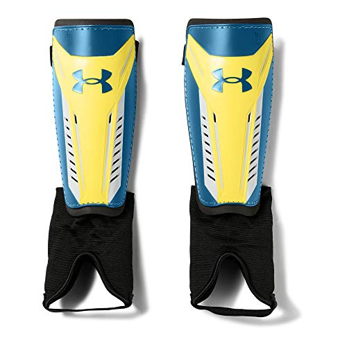 finest selection ad174 db23d Under Armour Men s Challenge Shin Guards 2.0, Tokyo Lemon (159) Moroccan  Blue, Large