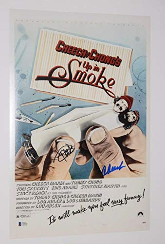 Cheech Marin & Tommy Chong Signed 12x18 Movie Poster Photo UP IN SMOKE BAS COA from Unknown